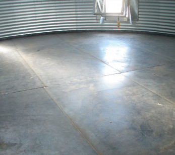Grain bin steel floors