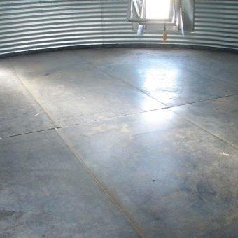 Grain bin metal floor