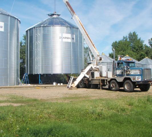 darmani grain bin setup crews