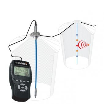 Temperature monitoring system for grain storage handling