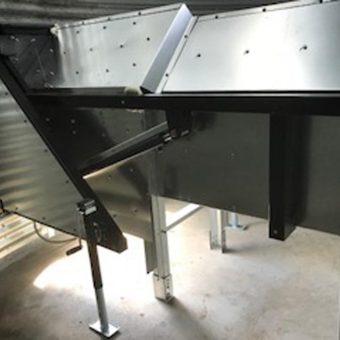 inside grain bin