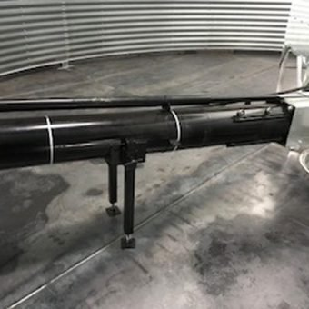 unload system with steel floor
